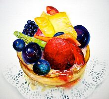 Delicious...Delectable Fruit Tart by ©Janis Zroback