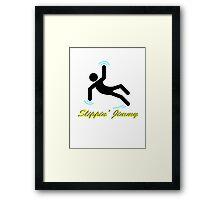 Slippin' Jimmy Framed Print