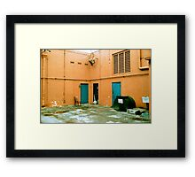 Smoking Chair Framed Print