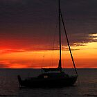 Boat at Sunset, Mindle Beach by topsturner