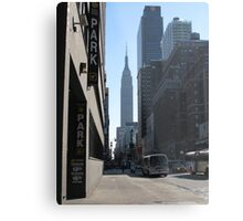 Unknown Street with a World Famous Backdrop Metal Print
