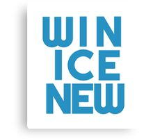 Win Ice New Canvas Print