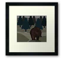 Lonely Bear in the Woods Framed Print