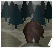 Lonely Bear in the Woods Poster