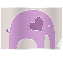 Lavender Elephant Poster