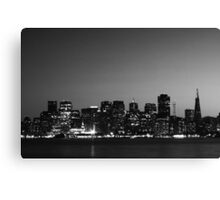 Black and White City Canvas Print