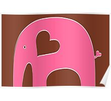 Pink Chocolate Elephant Poster
