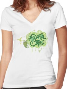 I'm With Oozer! Women's Fitted V-Neck T-Shirt