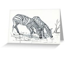 The puzzle about the Zebra's stripes Greeting Card