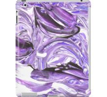 Abstract Purple and White Pattern, Swirling Lines  iPad Case/Skin