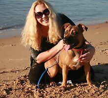 23. Shondelle & her Staffy-Ridgeback by Cathie Brooker