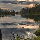 The Wetlands at Nagambie ( 2 ) Dusk on the Goulburn by Larry Lingard-Davis