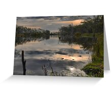 The Wetlands at Nagambie ( 2 ) Dusk on the Goulburn Greeting Card