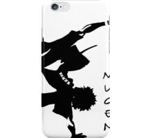 samurai champloo mugen anime shirt iPhone Case/Skin