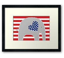 All American Elephant Framed Print