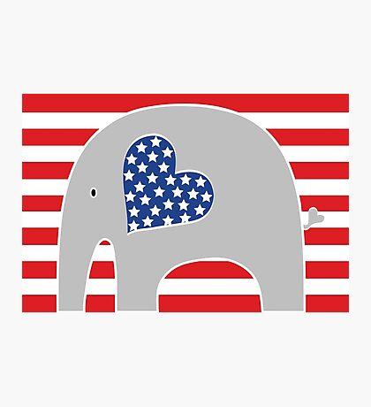 All American Elephant Photographic Print