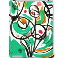 Colorful Abstract Tree Design, Calligraphic Art  iPad Case/Skin