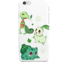 Pokemon Grass starters  iPhone Case/Skin