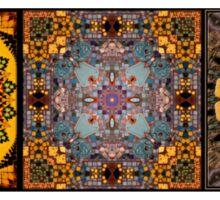 Golden Trio Kaleidoscope Sticker