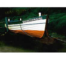 EMERALD ISLE BOAT AT BALLINTOY  Photographic Print
