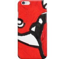 Red, Black and White Abstract Art Design  iPhone Case/Skin
