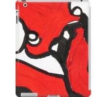 Red, Black and White Abstract Art Design  iPad Case/Skin