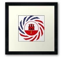Gibraltarian American Multinational Patriot Flag Series Framed Print