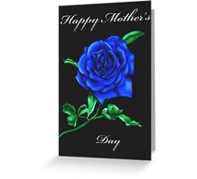 Blue Rose Mother's Day Card Greeting Card