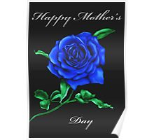 Blue Rose Mother's Day Card Poster