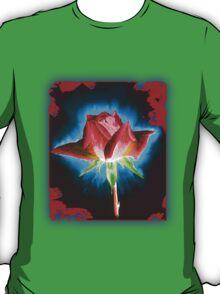 Rose on Black T-Shirt
