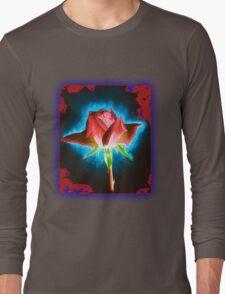 Rose on Black Long Sleeve T-Shirt