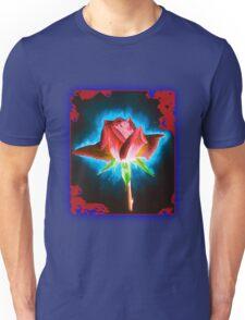 Rose on Black Unisex T-Shirt