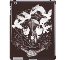 Cat Skull - White iPad Case/Skin