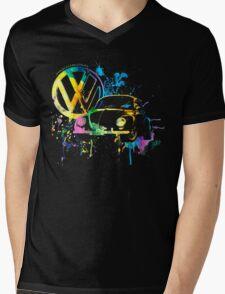 Volkswagen Beetle Splash © Mens V-Neck T-Shirt