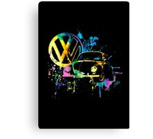 Volkswagen Beetle Splash Canvas Print