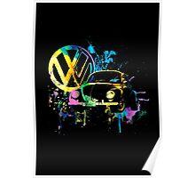 Volkswagen Beetle Splash Poster