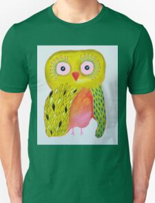 Quirky Yellow Owl T-Shirt