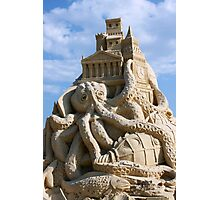 Sand Sculpture ~ a Tribute to Jules Verne Photographic Print