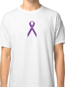 Purple Ribbon and Butterfly - Fibromyalgia Awareness Classic T-Shirt