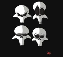 Born to be Dead- Skull faces (No Logo) by Amit Tishler