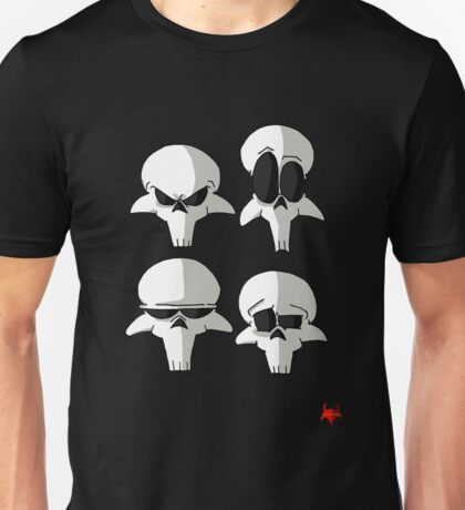 Born to be Dead- Skull faces (No Logo) Unisex T-Shirt