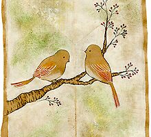 Birds on Berry Treee -wabi sabi- by naokosstoop