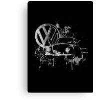 Volkswagen Beetle Splash BW Canvas Print