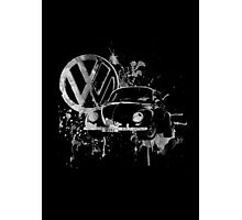 Volkswagen Beetle Splash BW Photographic Print