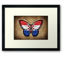 Croatian Flag Butterfly Framed Print