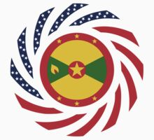 Grenadian American Multinational Patriot Flag Series by Carbon-Fibre Media