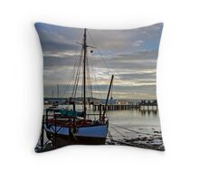 Evening at Upnor Throw Pillow