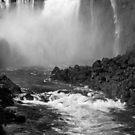 Down the Throat - Iguazu Falls - in monochrome by photograham