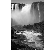 Down the Throat - Iguazu Falls - in monochrome Photographic Print