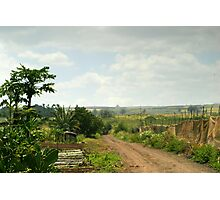 Country Farm Road  Photographic Print